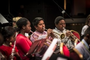 Newham Youth Fest wind players
