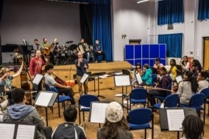 Roma Bridging Sounds Orchestra rehearsal 2014